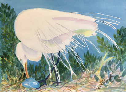 Cusick Joyce -  Egret Nesting